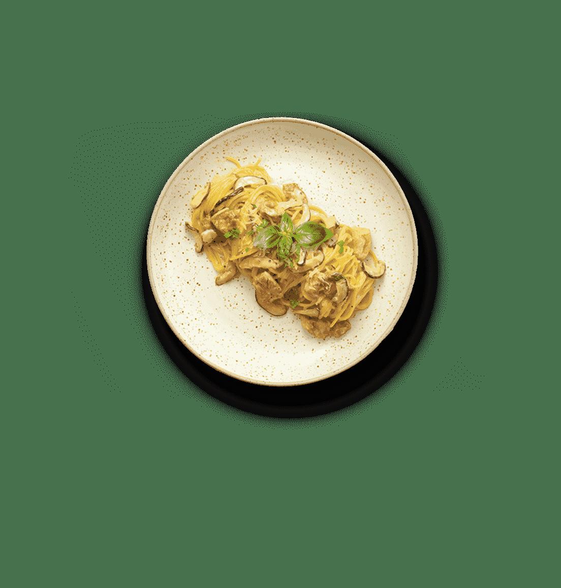 Chicken & Mushroom Cream Pasta